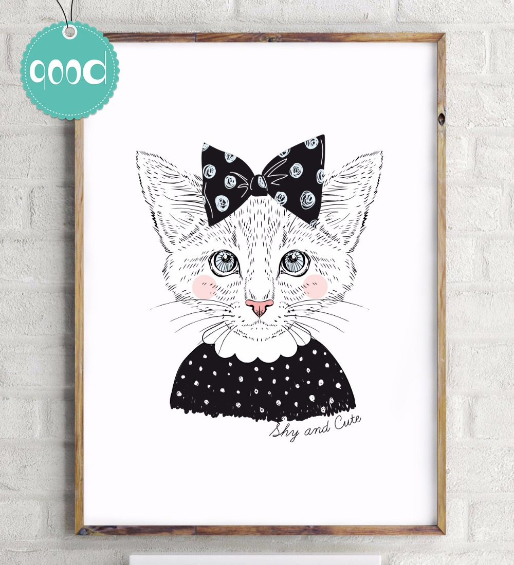 Buy portrait of shy cat girl canvas art for Wall art to buy