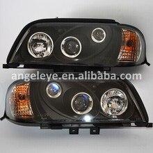 1996-2000 год для Benz W202 C200 C300 C180 автомобильные фары черный корпус SN