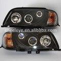 1996-2000 Año Para El Benz W202 C180 C200 C300 Del Coche Head Lights Faro Carcasa Negro SN