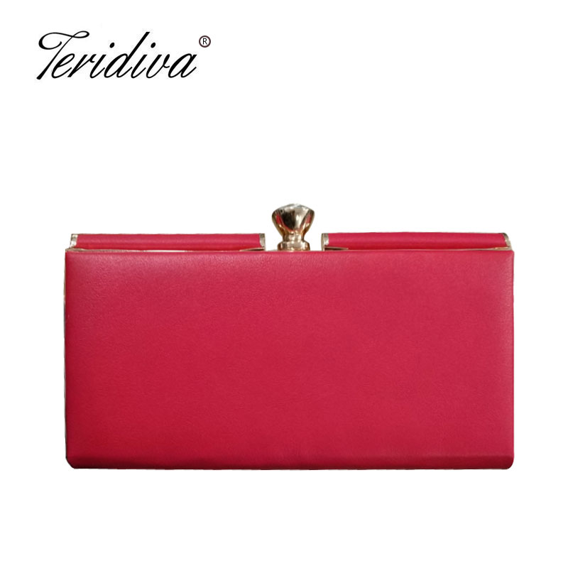 Teridiva Party Women Bag Fashion Lady Wedding Bridal Day Clutch Purse Evening Bag Chain Shoulder Handbags For Dinner Wallets tote purse bridal wallet luxury chain handbag fashion clutch hard women crossbody box evening party shoulder bag new pu leather