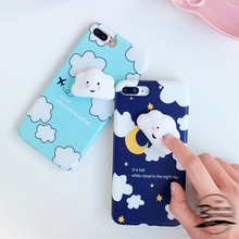 3D Smiling Clouds Squishy Case For iPhone