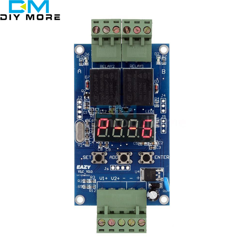 DC 12V Dual Programmable Relay Control Board Cycle Delay Timer Switch Module New цена и фото