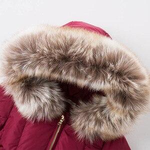 Image 4 - DB6099 dave bella kış bebek kız aşağı ceket çocuk 90% beyaz ördek aşağı yastıklı ceket çocuklar kapüşonlu giyim