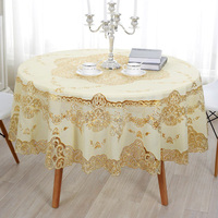 European Simple Gold Sequin Tablecloth Overlay Tablecloths For Wedding Lace Round Tablecloth Nappe De Table PVC