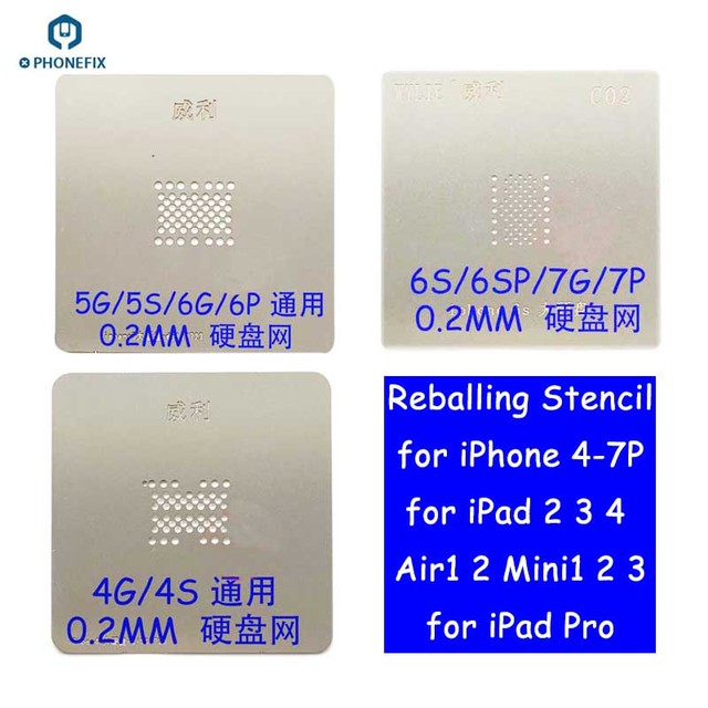 Ipad Template | Wylie Bga Reballing Stencil Nand Planting Tin Template Plate For