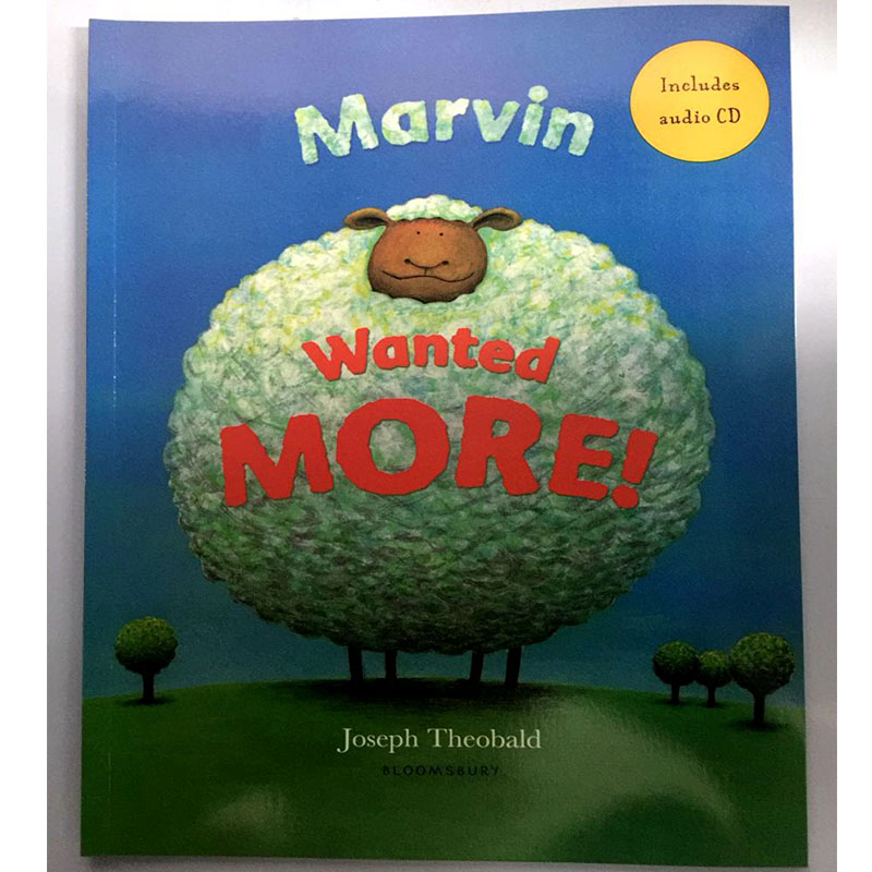 Marvin Wanted More By Joseph Theobald Educational English Picture Book Learning Card Story Book For Baby Kids Children Gifts
