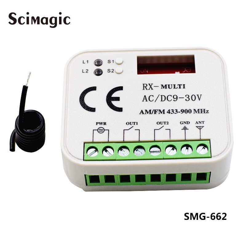 Garage receiver Multi frequency 300-900mhz Sommer DEA liftmaster faac ditec doorhan hormann gate control receiver