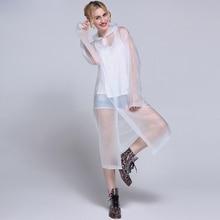 Portable ева пончо плащ одноразовые легкий не взрослых прозрачный женская мода