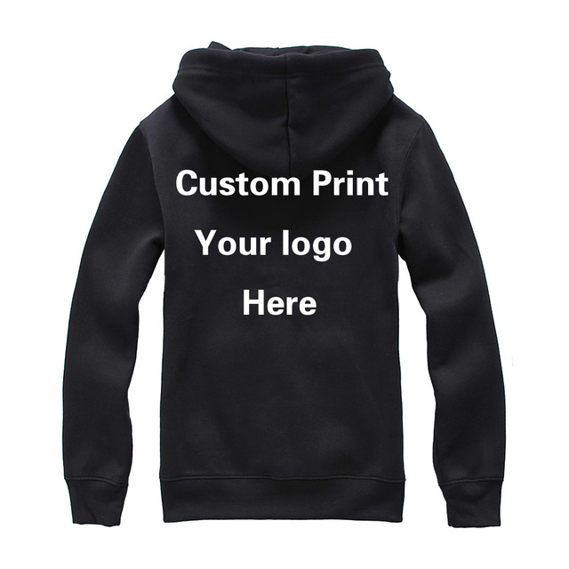 df356a9bc8d17 US $27.0 |Custom print Logo Hood Sweatshirt Unisex Customized Printing  Embroidery Your logos Photos Names Personalized Design Garment-in Hoodies &  ...