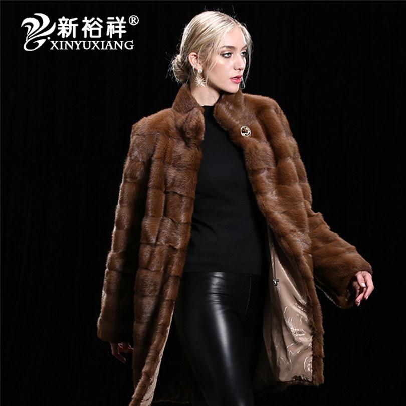 Mode Frauen echte Nerz Pelzmäntel Dicke warme anpassbare Winter - Damenbekleidung - Foto 2