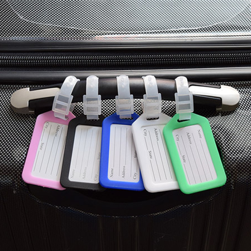 Classic Plastic Luggage Tag Travel Suitcase Baggage Travel Accessorie Mixproof  Boarding Tag Address Label Name ID Tags 6 Color