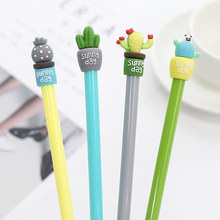 1pcs Sell Cactus Pot Gel Pens Student gel Ink Pen School Office Supplies Learning Stationery Wholesale(China)