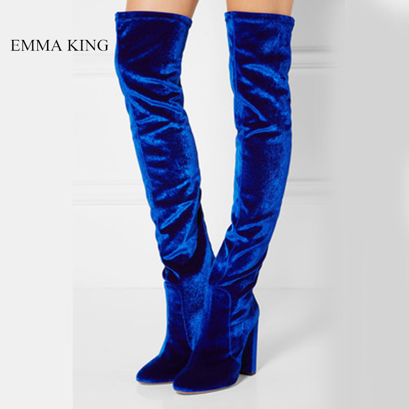 New Velvet Platform Over the Knee Boots Women Thick Heel Stretch Long Boots Autumn Winter Thigh High Heels Boots Ladies Shoes New Velvet Platform Over the Knee Boots Women Thick Heel Stretch Long Boots Autumn Winter Thigh High Heels Boots Ladies Shoes