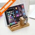 Для Apple , часы стенд, [ Зарядки док ] бамбук дерево зарядное устройство / док / колыбель / держатель -- для Apple , часы и всех Iphone