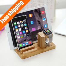 For Apple Watch Stand,[Charging Dock]bamboo Wood Charger Station/dock /Cradle/ Holder– for Apple Watch & All Iphone