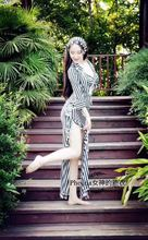 2017 new Belly dance costume robe bellydancing dress for women headpiece +dress+belt 3pcs suits professional wear S ,M, L