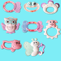 Infant Molar Ring Toy/Early Education Cartoon Ring Toy/Neonatal Intelligence Ring newborn toys