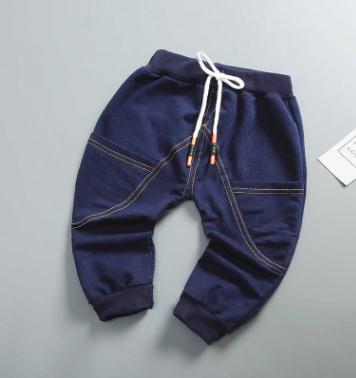 2019 Printemps Automne Nouveau Style Enfants de Jeans Garçons Pantalon Infantile Bébé Filles Denim Pantalon Enfants Jeans pour 0- 4 année MON-3105