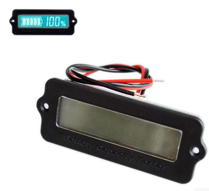 Blue/Green 12V LY6W Lead Acid Battery Capacity Indicator LCD Digit Display Meter Lithium Battery Power Detector Tester Voltmeter
