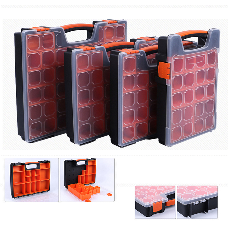 Tool Case Components Box Practical ABS Plastic Screw Tool Storage Box Screwdriver Hardware Accessories Toolbox With Locking