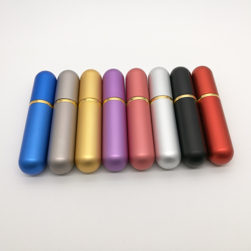 Güzellik ve Sağlık'ten Doldurulabilir Şişeler'de Ücretsiz kargo 50 adet/grup Boş nazal solunum aleti Alüminyum tüp uçucu yağ boş doldurulabilir Metal inhaler burun ile fitil'da  Grup 2