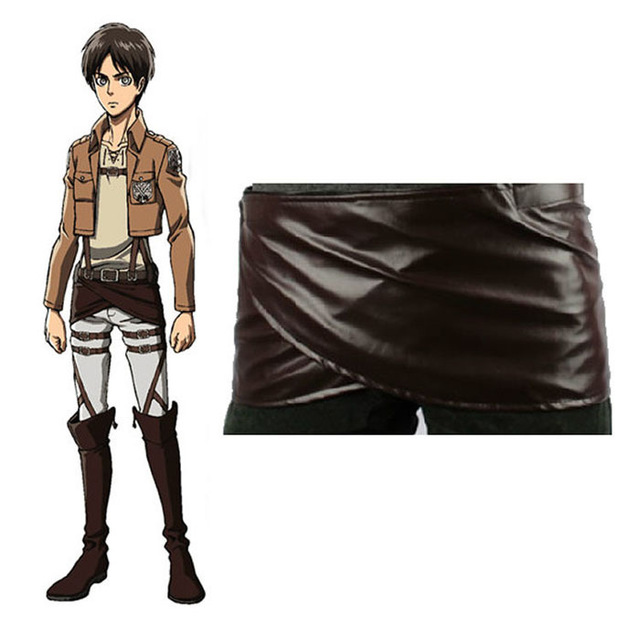 New Cos Cosplay Attack on Titan Shingeki no Kyojin Leather Skirt Hookshot Costume Lucky