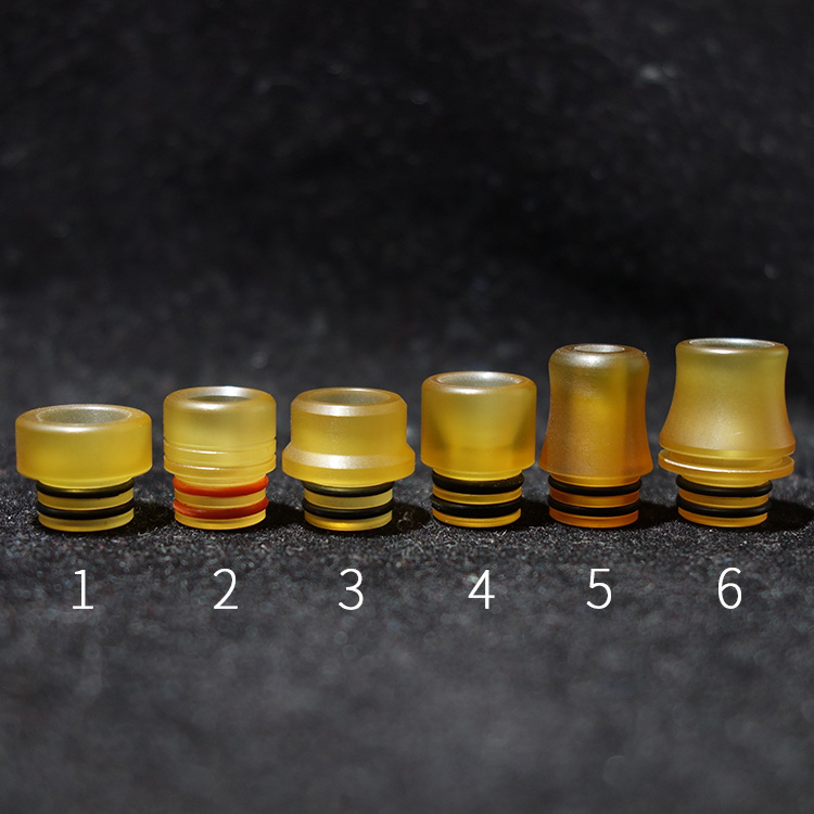 1pcs Mtl Drip Tip 510 Mini Yellow PEI Ultem Mouthpiece Vape Tips For 510 Thread Atomizer RTA RDA Sub Ohm Tanks Ecig Accessories