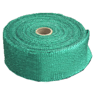 15M High Temperature Header Manifold Exhaust Wrap Fiberglass Roll Green