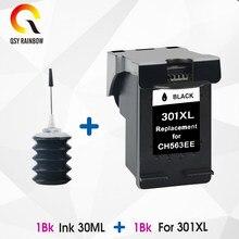 QSYRAINBOW 301XL Заправляемый чернильный картридж для HP 301 xl TRI-COLOR для Deskjet 1000 1050 2000 2050 2510 3000 3050