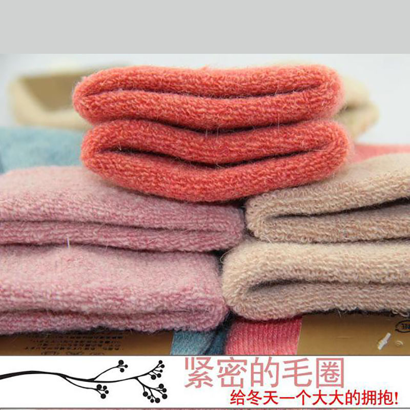 Winter New Womans Socks Thick Curled Woolen Wool Fuzzy Socks 5PairsStandard Size ...
