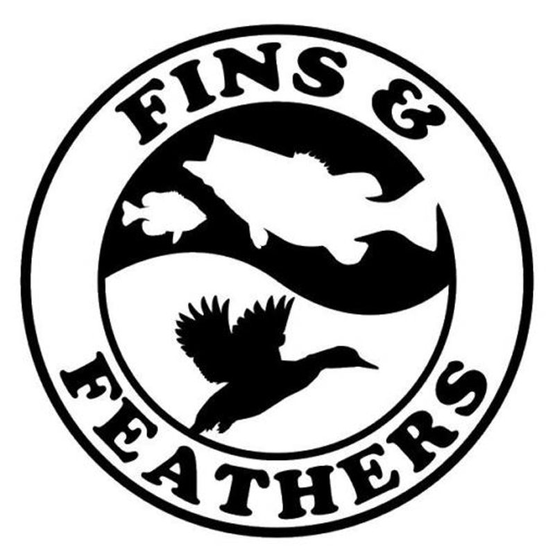 14cm*14cm Fins and Feathers Fishing Decal Car Styling Vinyl Stickers ...