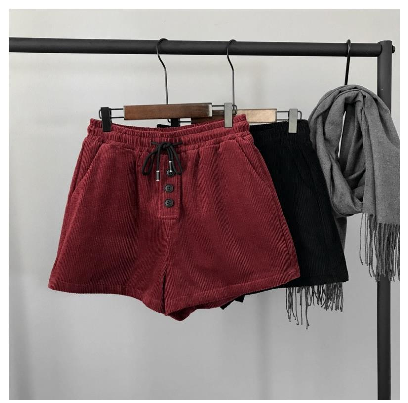 Winter   Short   Pants Velvet   Shorts   Women Casual 2019 Fashion Spring New Sexy High Waist Wide Leg Booty   Shorts   L248