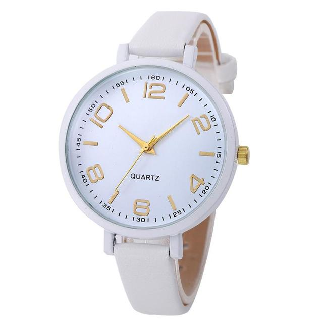 Montres Women Watches Watch Small Faux Leather Quartz Analog Wrist Watch Ladies