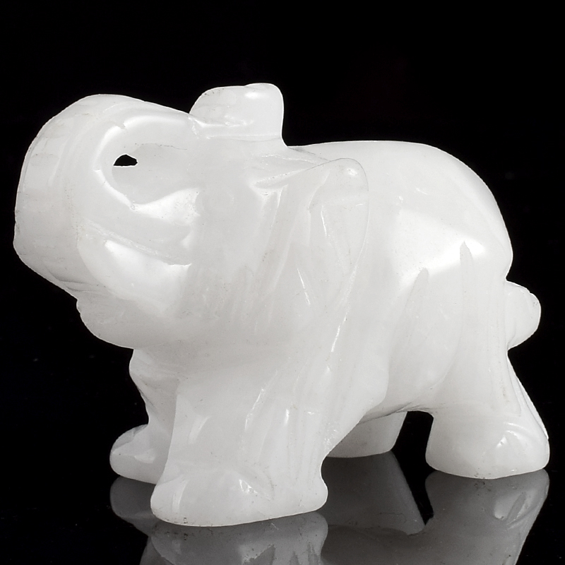 2 inch Natural White Jade Elephant Figurine Gemstone Crystal Carved Animals Statue for Home Decor Chakra Healing2 inch Natural White Jade Elephant Figurine Gemstone Crystal Carved Animals Statue for Home Decor Chakra Healing