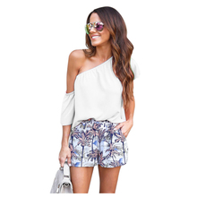 IMC Women's New Fashion Shirts One Shoulder Tops Summer Sexy Beach Shirts Casual Solid Female Clothing