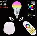 Mi. light E14 5 w lâmpada led, rgbw rgbww levou lâmpada AC85-265v + wi-fi sem fio controlador + 2.4G sem fio rf controle remoto para a lâmpada