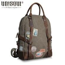Unisoul voyage sac à dos 2016 New conçu hommes sacs à dos ordinateur portable toile sacs hommes sac à dos Vintage école sac à dos