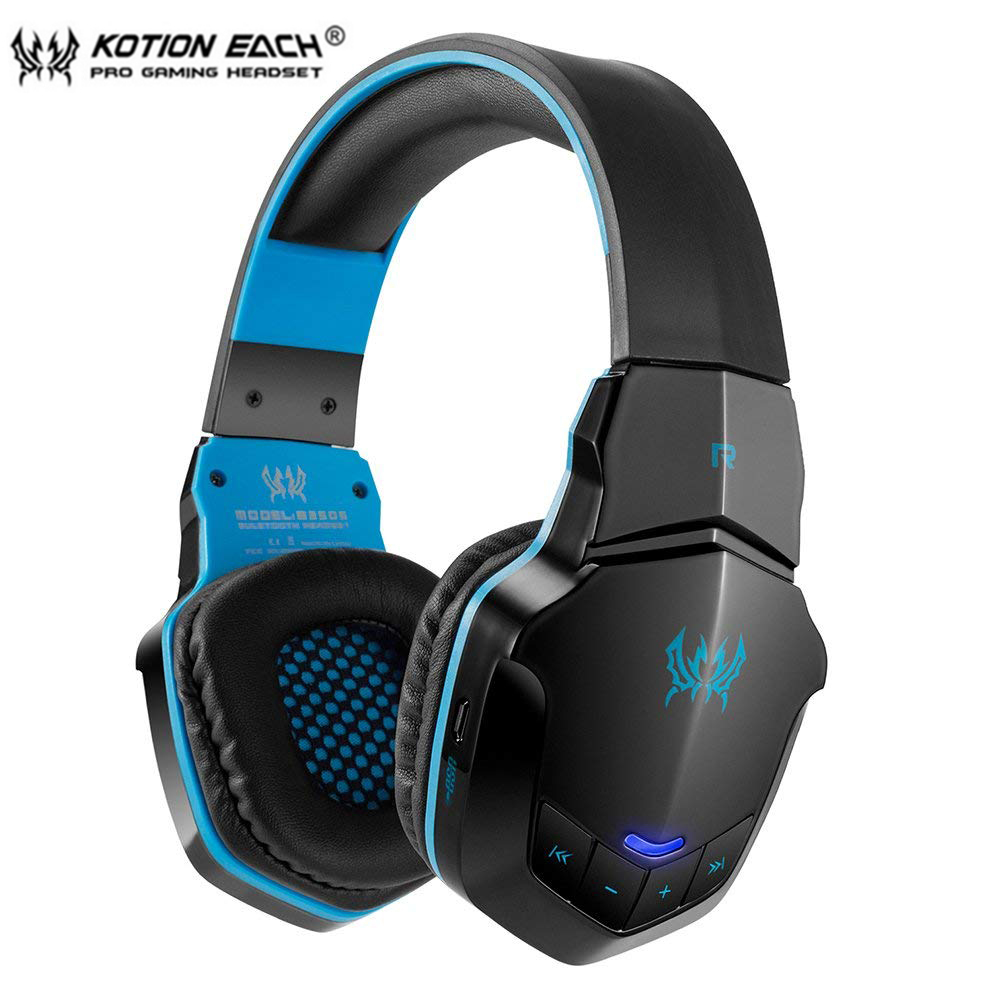 KOTION EACH B3505 Wireless Bluetooth Gaming Headset Over Ear Stereo Bass Music Headphone Volume Control with Microphone Gamer