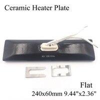 240 60mm Flat Vacuum Injection Molding Machine Repair Far Infrared IR Ceramic Heating Plate Air Ceramic