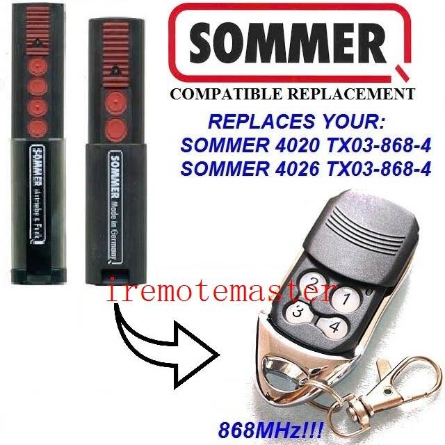 2/x Sommer 4020/TX03 868 Sommer 4025. 4 Top Qualit/é Original 100/% compatible avec sommer 4026 4/868/MHz /émetteur manuel de commande /ét/é 4031