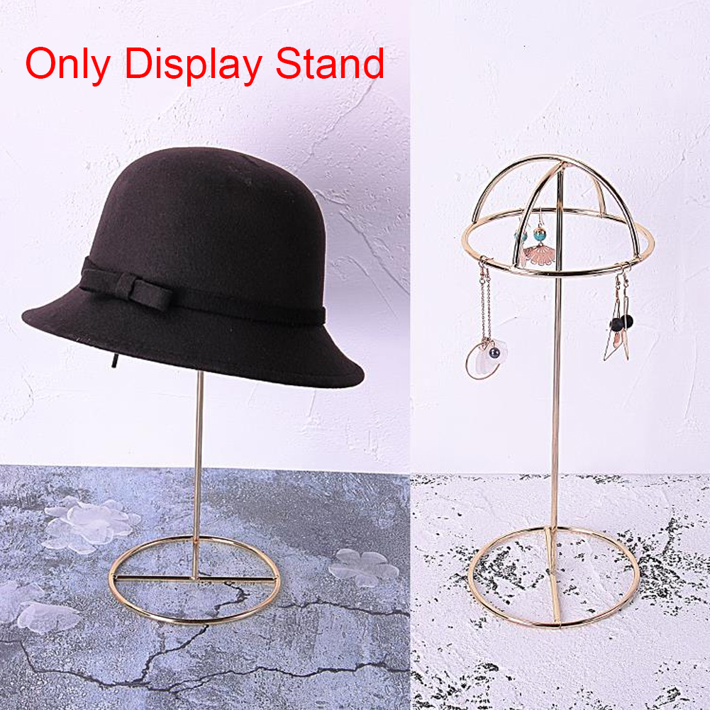 Rustproof Keys Smooth Surface Necklace Organizer Earring Hat Gift Iron Vertical Desktop Stand Storage Rack Round Jewelry Display