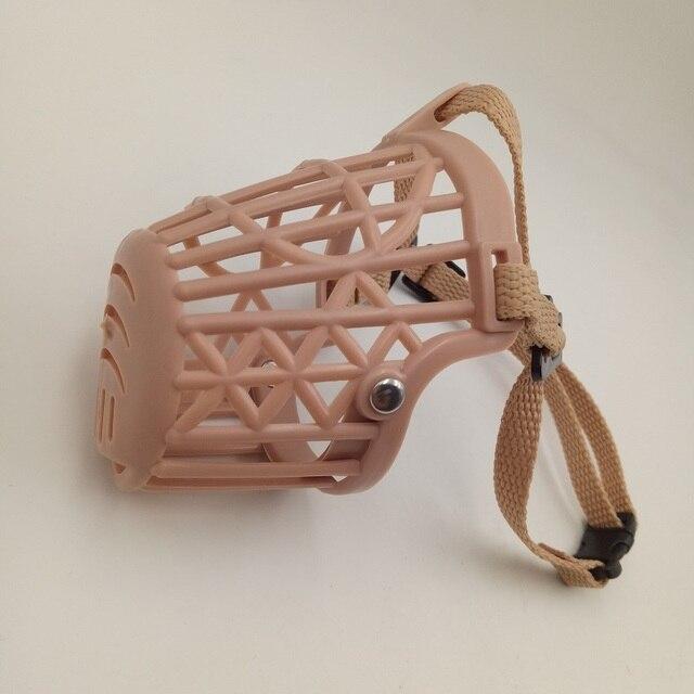 Pet Dog Muzzle Mask Anti-mordere Cestino di Plastica Bocca Regolabile Maglia 7 Dimensioni 1 pz