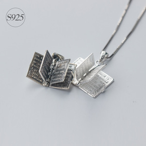 Image 1 - 1pc 925 Sterling Silver Holly Bible Necklaces & Pendants