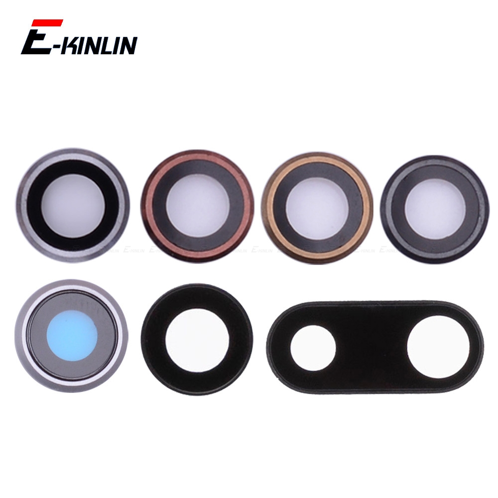 New Back Rear Camera Glass Lens Ring Cover For IPhone 6S 7 8 Plus With Frame Holder Replacement Parts