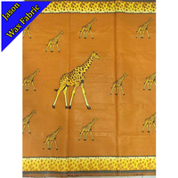2017 GUARANTEED SUPER JAVA GHANA KENTE GIRAFFES PRINTED FABRIC GOOD QUALITY AFRICA JAVA PATTERN FABRIC FOR