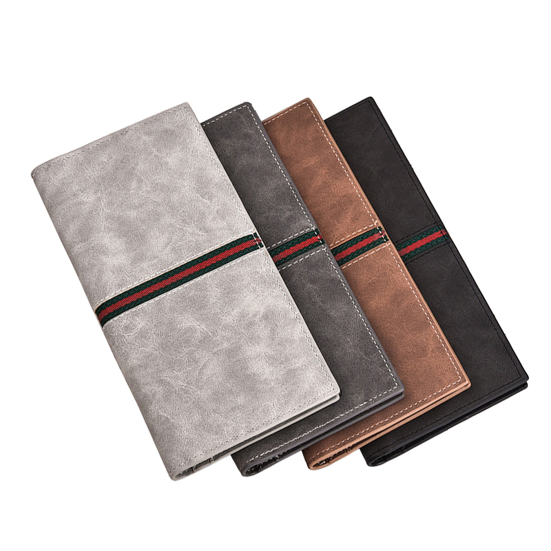 mens wallet Credit card holder ID business card High quality leather file Passport cover clutch purse Card bag for documents