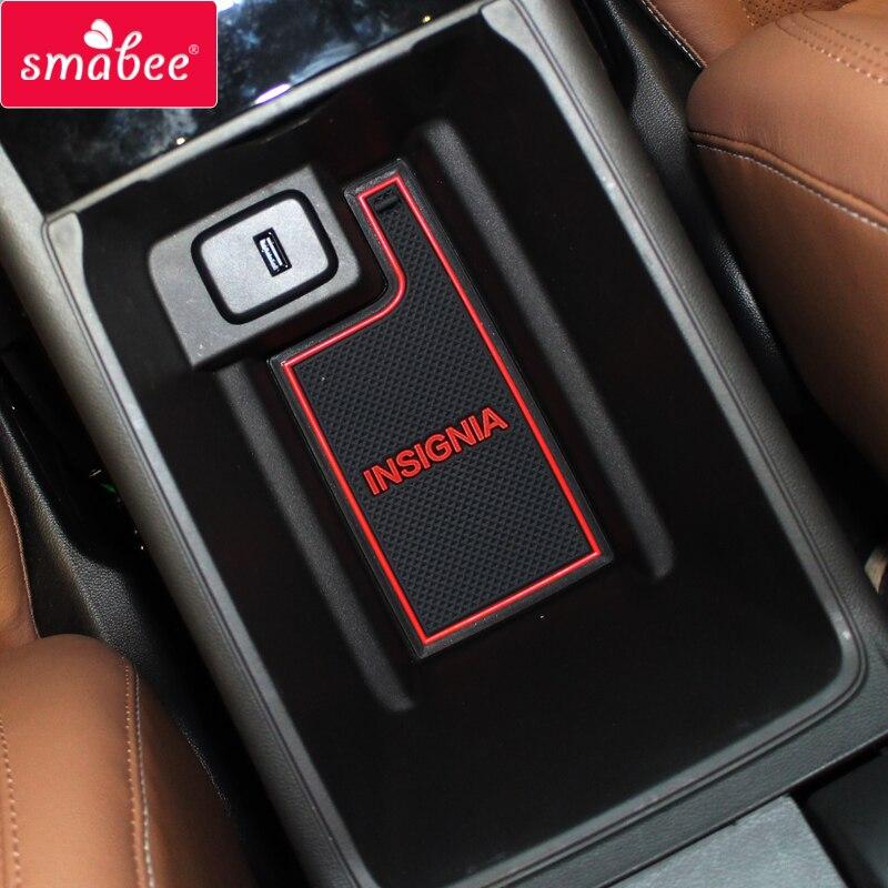 Smabee Gate Slot Mats For Opel Insignia B 2017 - 2019 MK2 OPC GSI Vauxhal 2018 Interior Door Pad Car Cup Holders Non-slip Mats