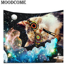 cat printing Psychedelic tapestry wall hanging pipe home decoration tapices pared colgante psychedelic