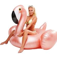YUYU rose gold Inflatable Flamingo Pool Float giant flamingo Swimming pool Tube pool Adult Swimming Ring Pool Toys swim ring