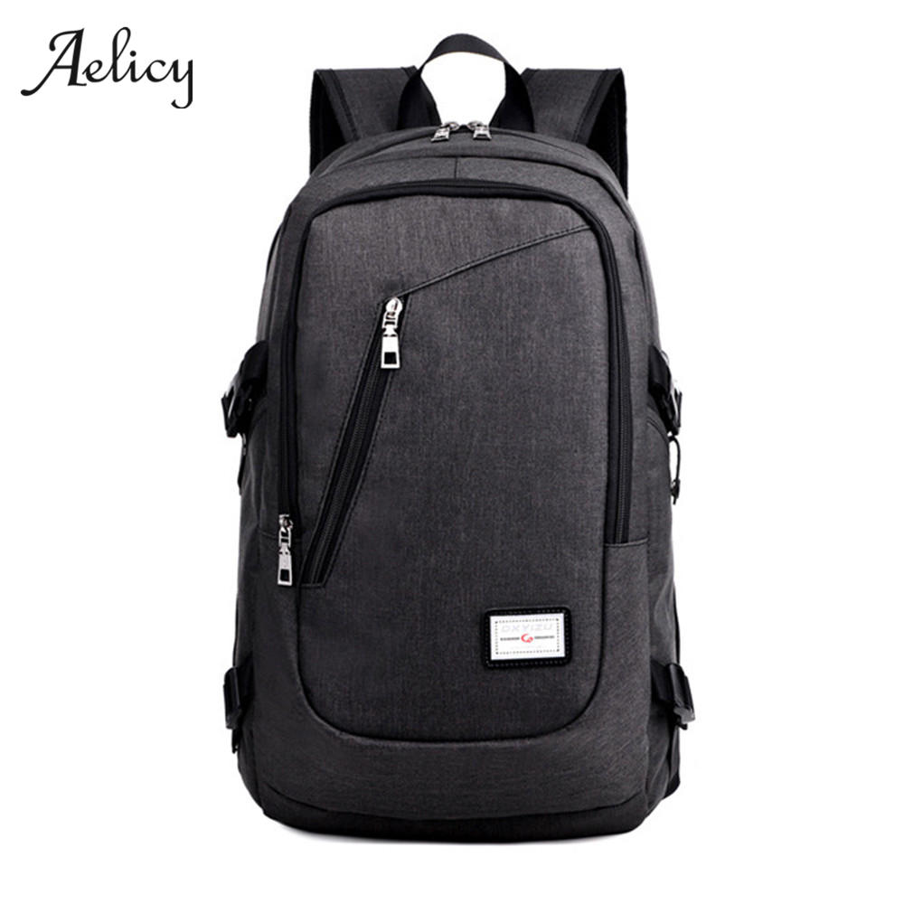 Anti Theft Business Laptop Backpack With USB Charging Port Unisex Leisure Travel Vintage Girls